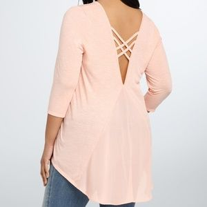 Torrid crisscross chiffon blouse top shirt plus